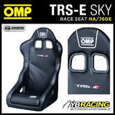 HA/760E OMP TRS-E SKY BLACK VINYL RACING RALLY BUCKET SEAT FIA APPROVED