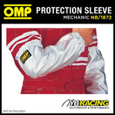 NB/1872 OMP RACING PIT CREW MECHANIC HEAT PROOF ALUMINIUM ARM SLEEVES PAIR