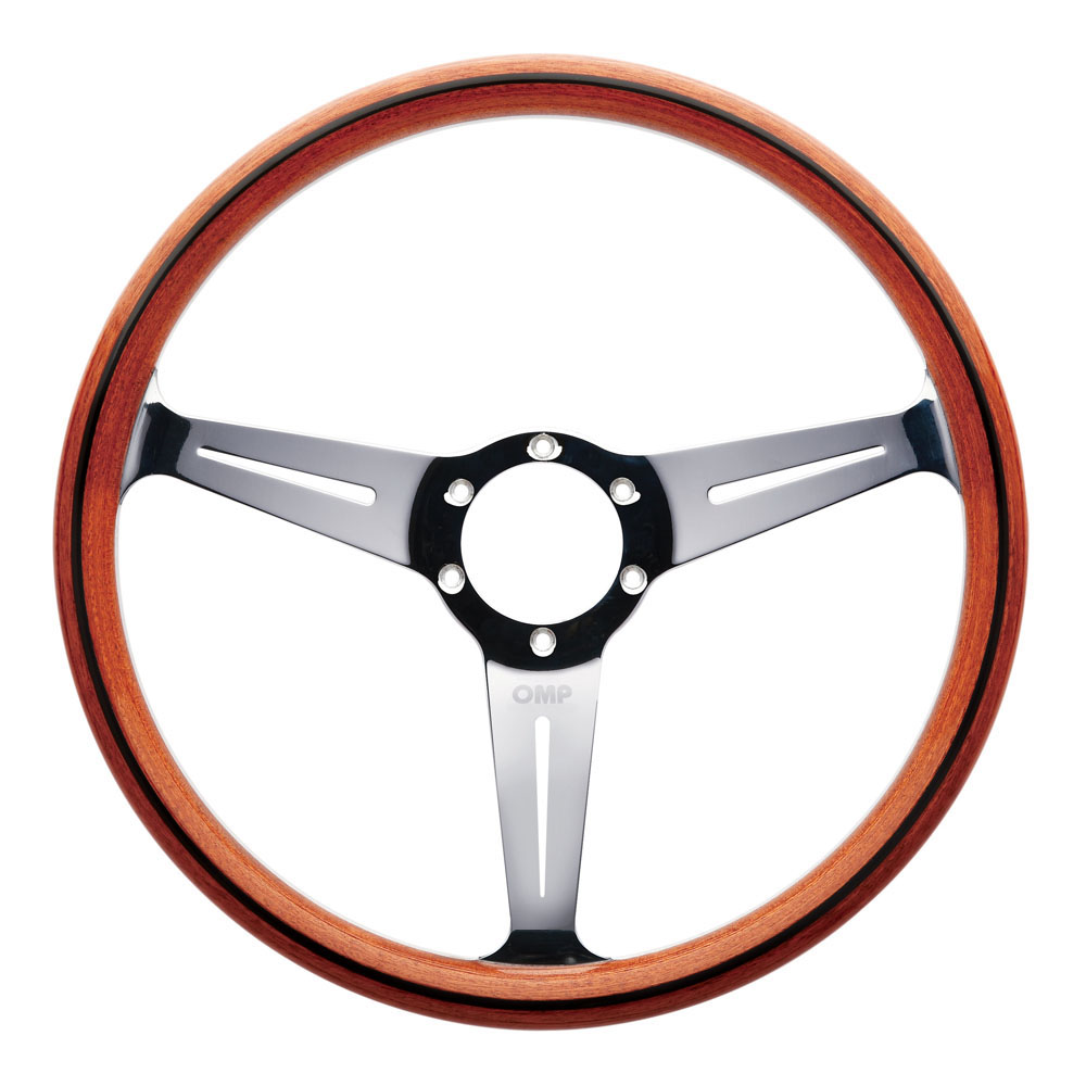 MO OMP MONZA WOODEN HAND-MADE STEERING WHEEL CLASSIC CAR VINTAGE//OD ...
