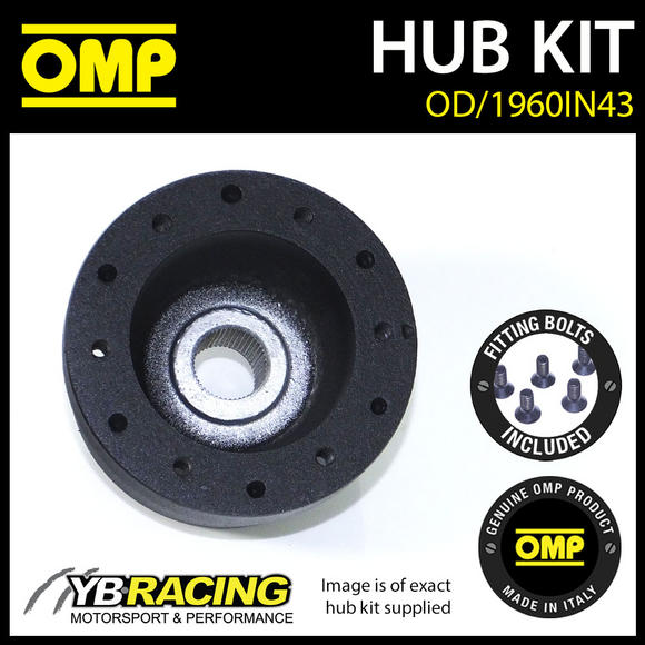 OD/1960IN43 OMP RACING STEERING WHEEL HUB BOSS KIT (ALSO FITS SPARCO & MOMO)