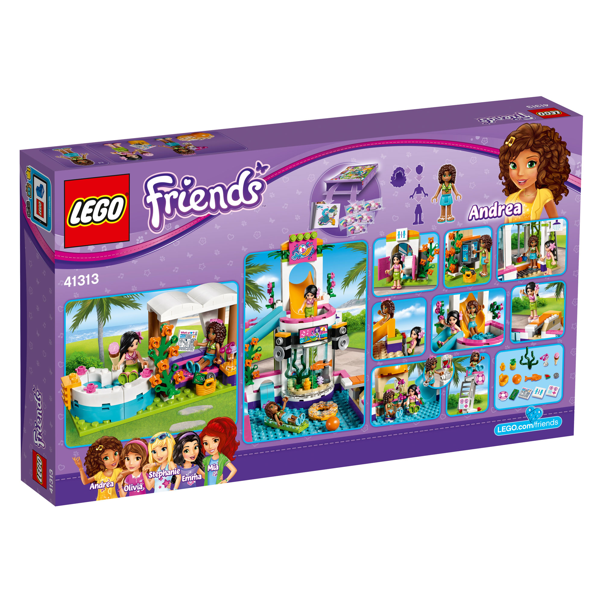 Details About 41313 Lego Friends Heartlake Summer Pool Andrea Martina 589 Pcs 6 12 New 2017