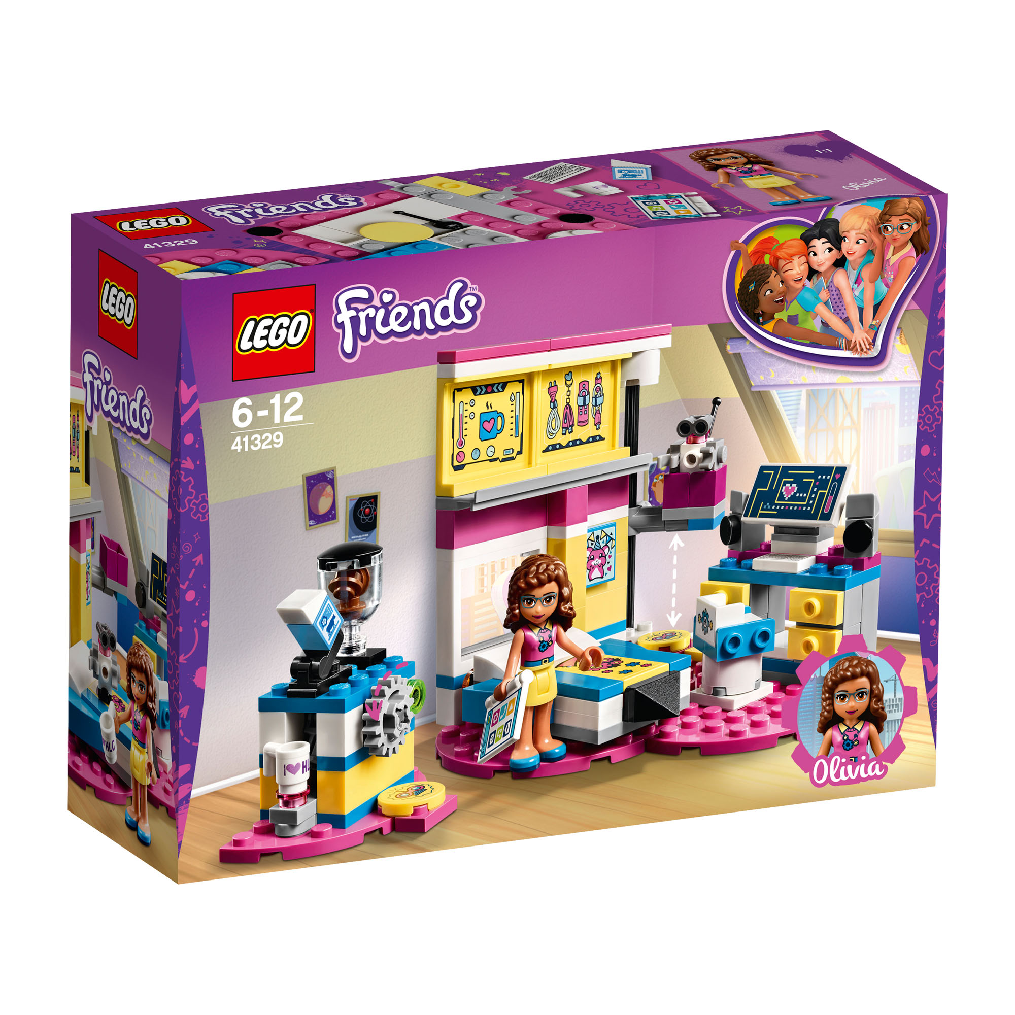 41329 Lego Friends Olivias Deluxe Bedroom 163 Pieces Age 6 New