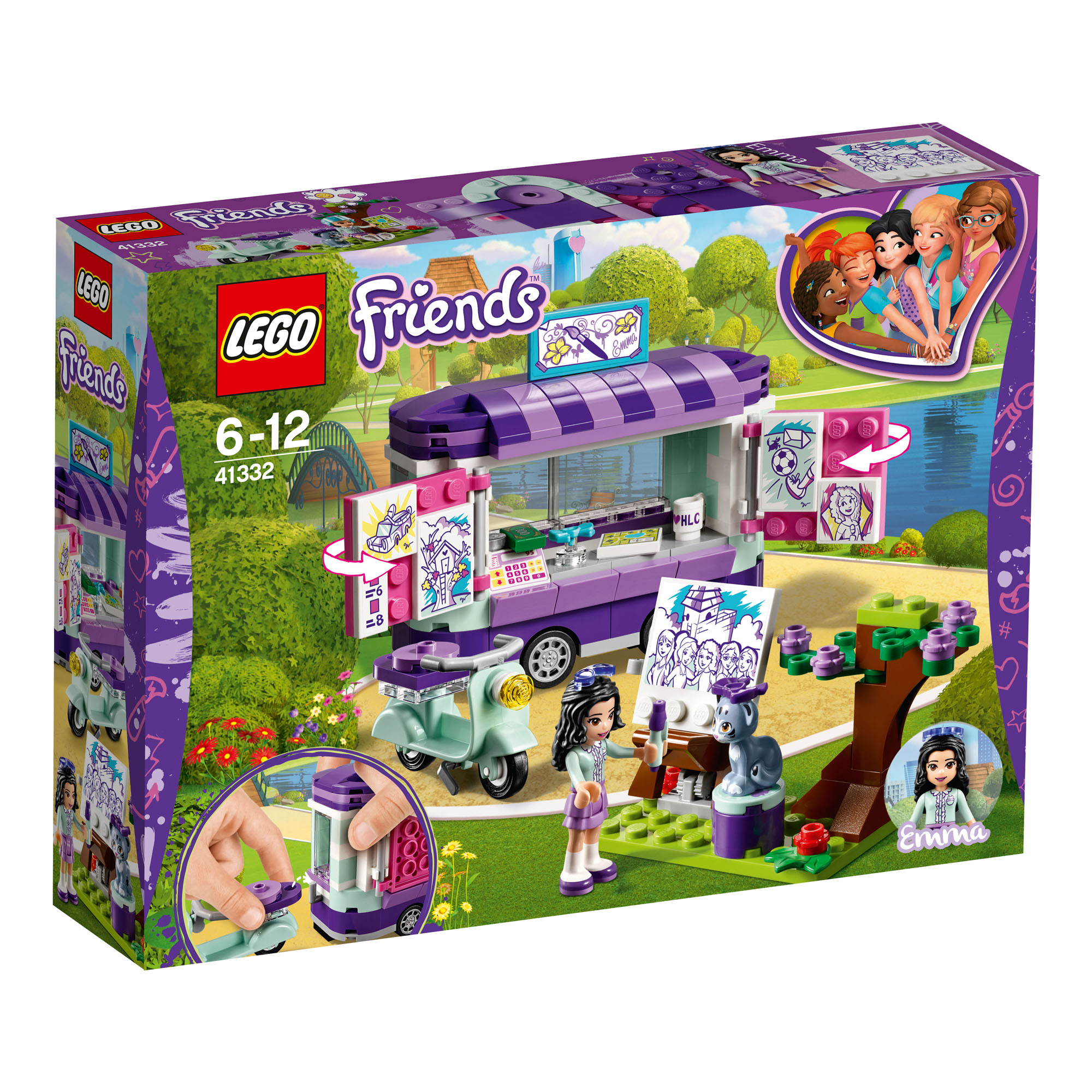 Details about 41332 LEGO Friends Emma's Art Stand Set 210 Pieces Age 6+ New  Release For 2018!