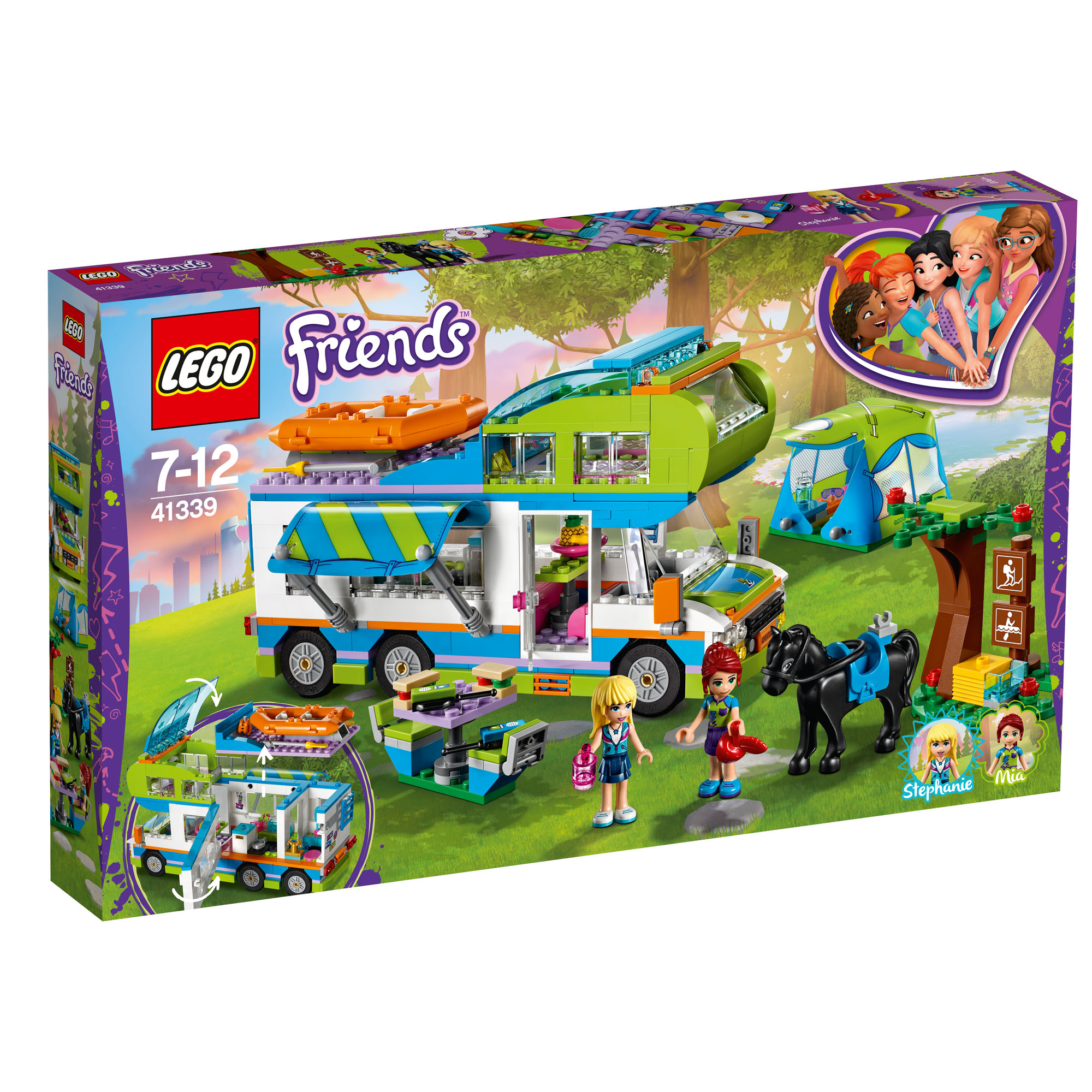 41339 LEGO Friends Mia's Camper Van Set 488 Pieces Age 7 ...