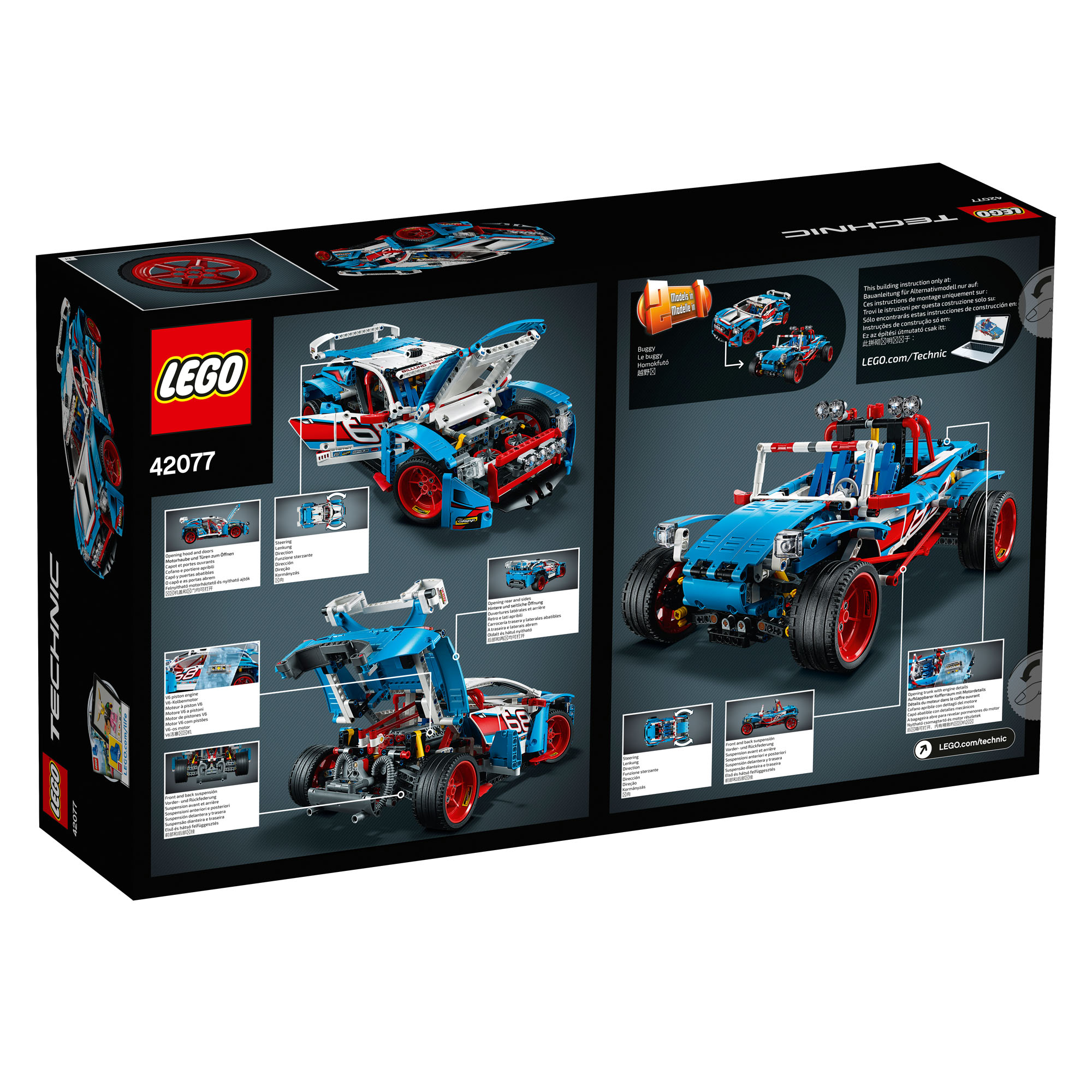 42077 lego technic rally car 2 in 1 set 1005 pieces age 10. Black Bedroom Furniture Sets. Home Design Ideas