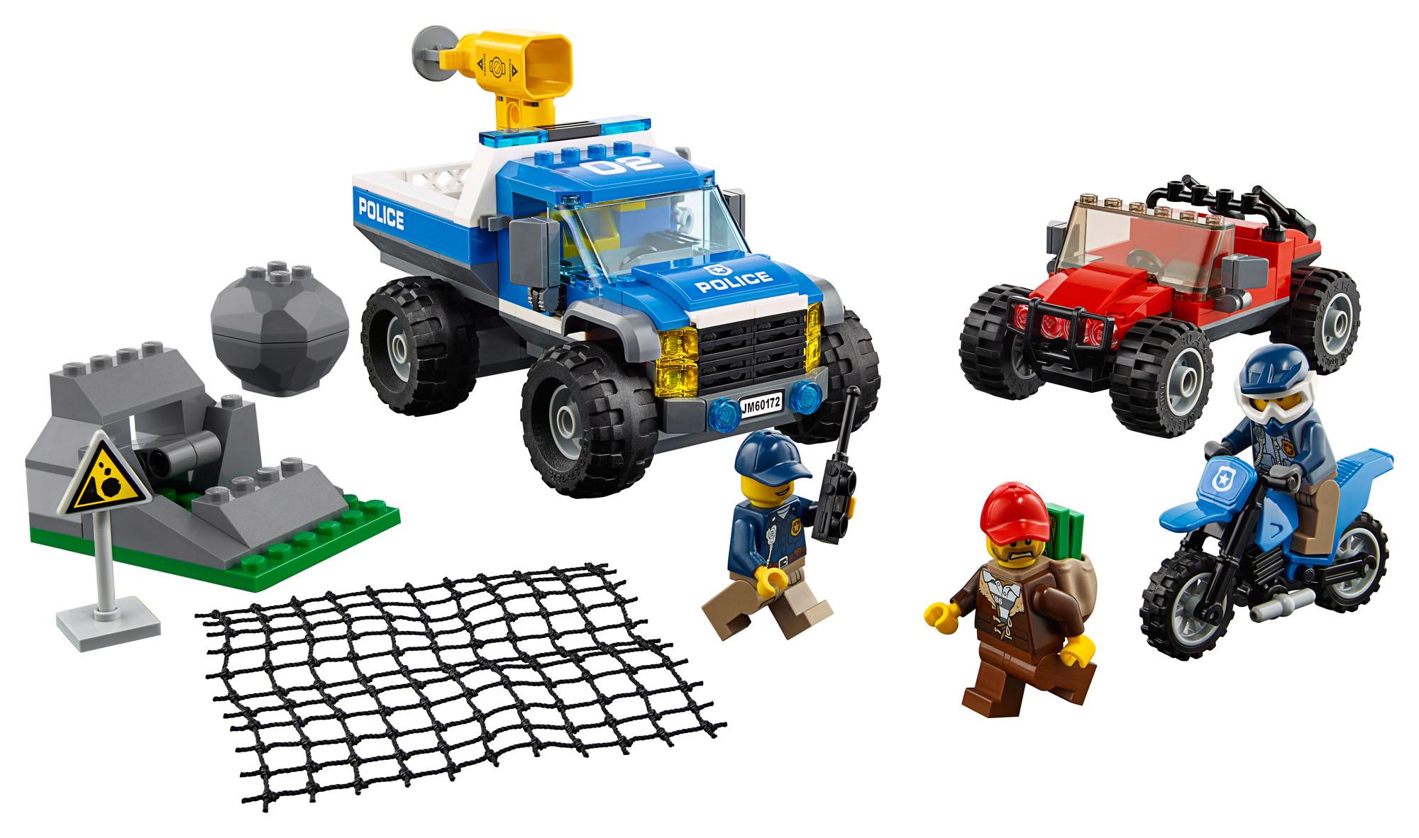 60172 LEGO City Police Dirt Road Pursuit 297 Pieces Age 5 ...