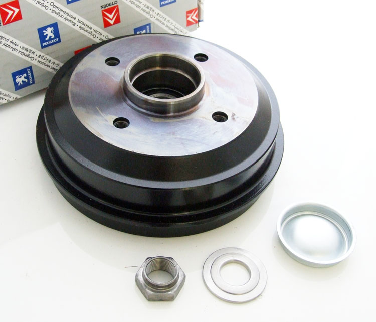 Peugeot 106 S1 91-96 Rear Hub & Brake Drum 180x30 (NON ABS) - Genuine Peugeot
