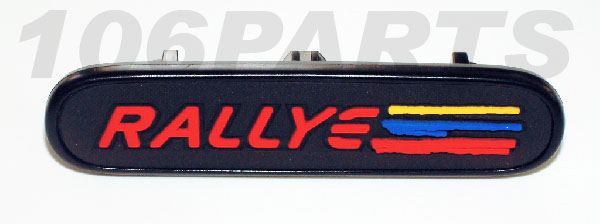 DISCONTINUED Peugeot 106 Rallye Dash Badge 1.6 RALLYE 97-98 - New Genuine Peugeot Part
