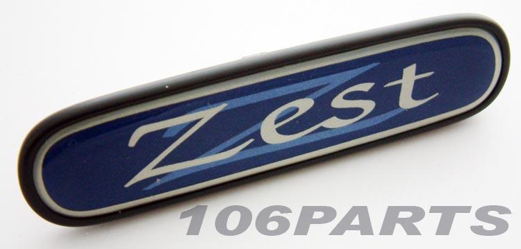 Peugeot 106 ZEST Dashboard Badge - New Genuine Peugeot Part
