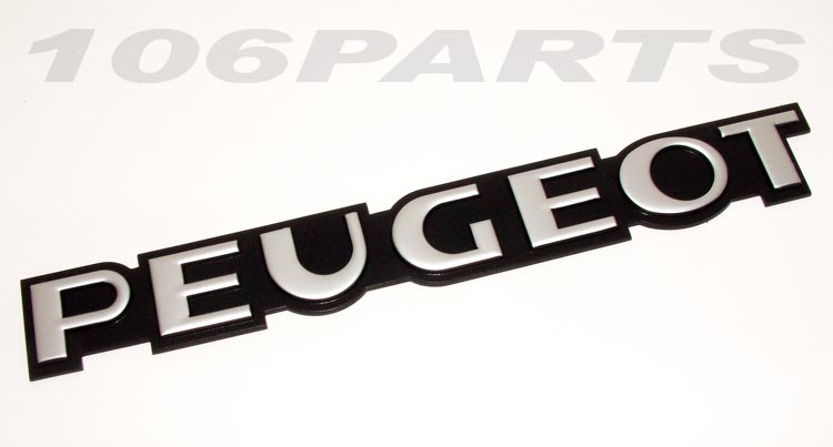 Peugeot 106 S1 91-96 'PEUGEOT' Rear Body Badge - New Genuine Peugeot Part