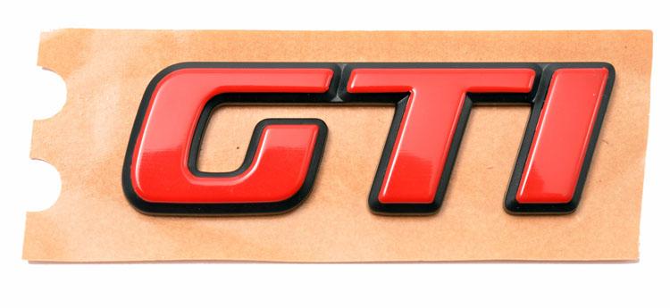 Peugeot 106 GTi 1.6 16v Wing Badge in Red - New Genuine Peugeot Part