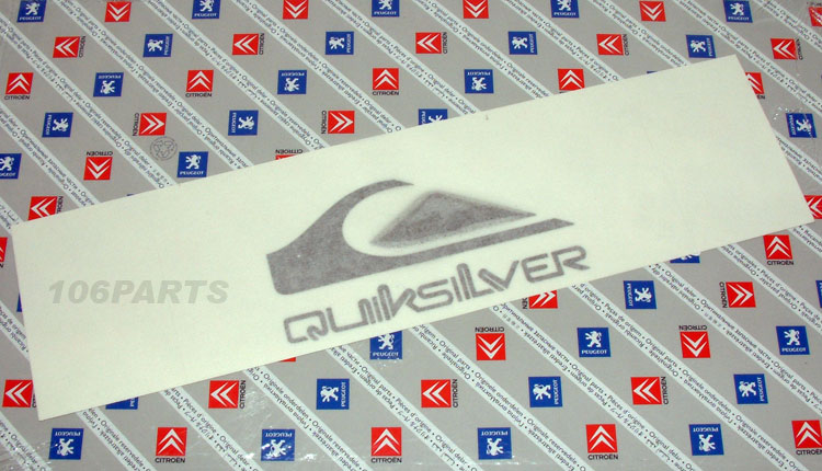 DISCONTINUED Peugeot 106 Quiksilver Body Badge - New Genuine Peugeot Part