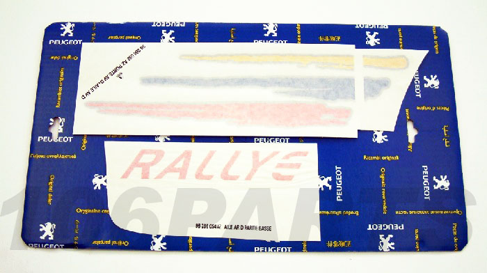 Peugeot 106 1.6 Rallye 96-98 Side Decal Sticker R/H - New Genuine Peugeot Part