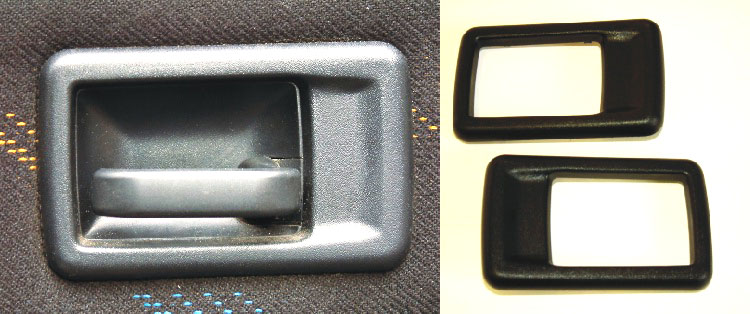 Peugeot 106 Interior door handle covers (PAIR) XS XSi RALLYE GTi QUIKSILVER