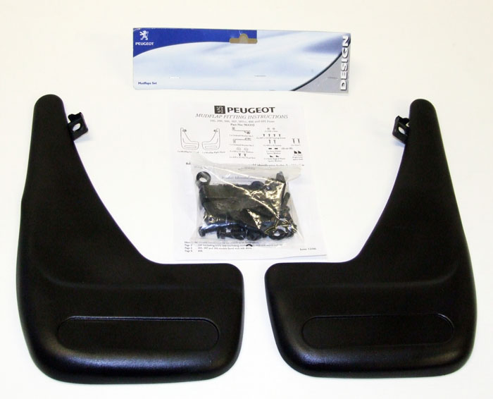 Peugeot 106 Front Mud Flaps (x2) XS XSi RALLYE GTi QUIKSILVER - Genuine Peugeot