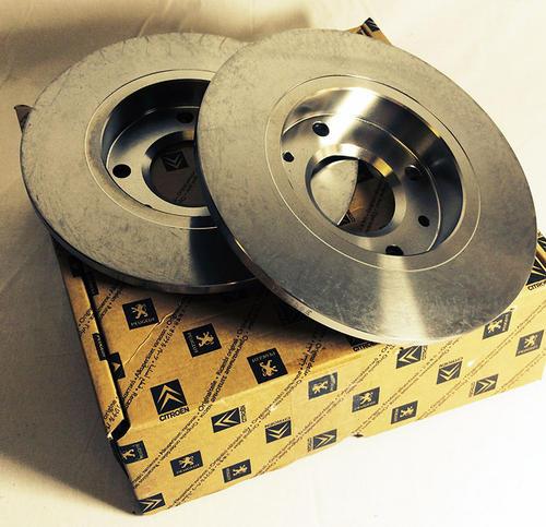 Peugeot 106 Front Brake Discs 247mm Non Vented 1.4 QUIKSILVER - Genuine Peugeot Thumbnail 1