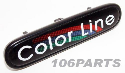 Peugeot 106 COLOUR LINE Dashboard Badge - New Genuine Peugeot Part Thumbnail 1