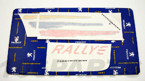 Peugeot 106 1.6 Rallye 96-98 Side Decal Sticker L/H - New Genuine Peugeot Part Thumbnail 1