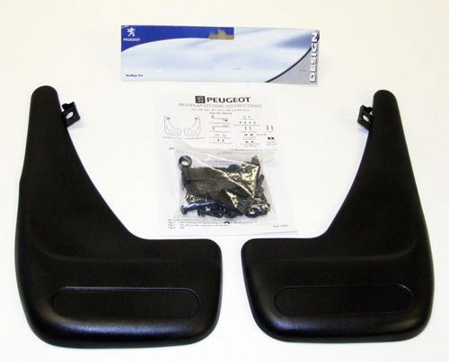 Peugeot 106 Front Mud Flaps (x2) XS XSi RALLYE GTi QUIKSILVER - Genuine Peugeot Thumbnail 1