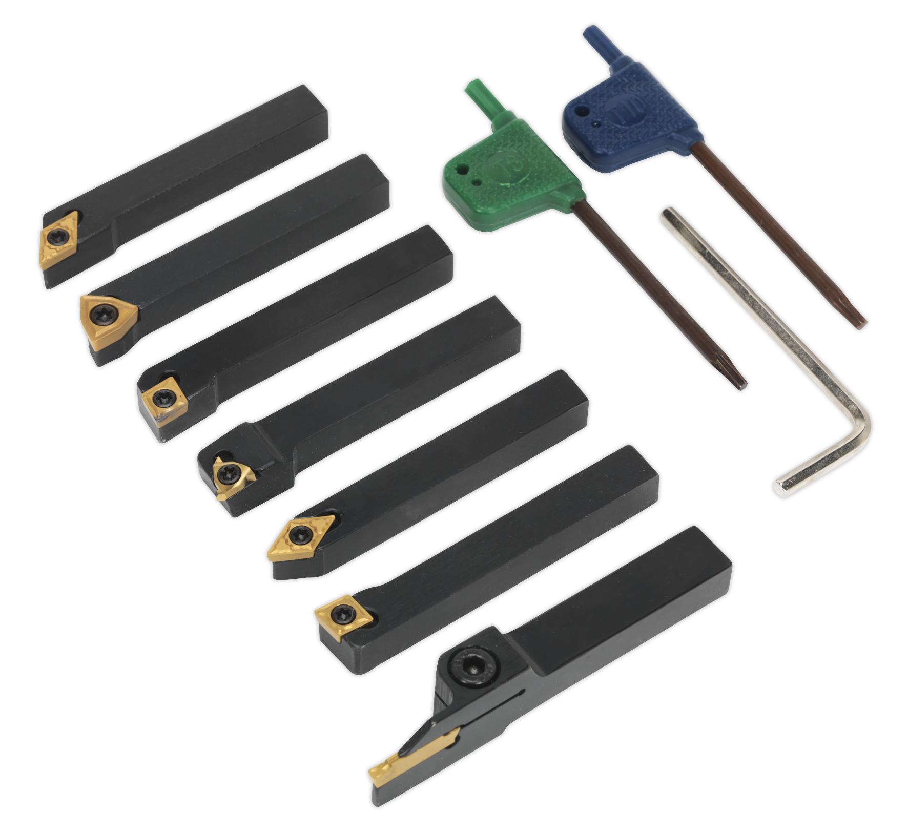 SM3025CS5 Sealey Indexable 8mm Lathe Turning Tool Set 7pc ...