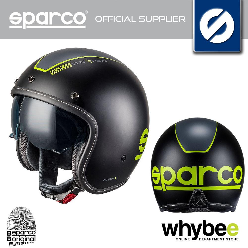 003341 SPARCO DESIGN CR-9 CR9 CARBON HELMET CAFÉ RACER MOTORCYCLE BIKE SCOOTER