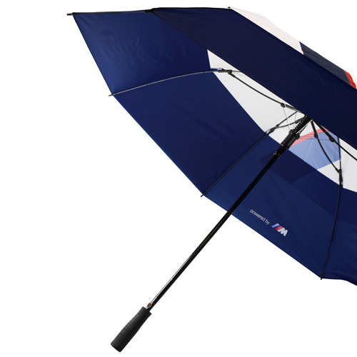 NEW! BMW MOTORSPORT UMBRELLA BROLLEY GOLF SIZE WHITE/BLUE M SPORT COLOURS M3 M5