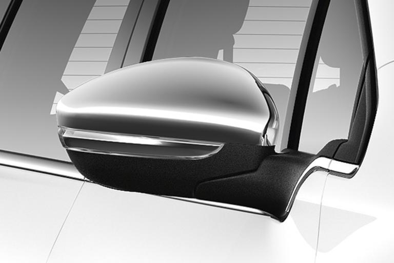 NEW! PEUGEOT 2008 DOOR MIRROR COVERS CAPS - CHROME COLOUR - GENUINE PEUGEOT!