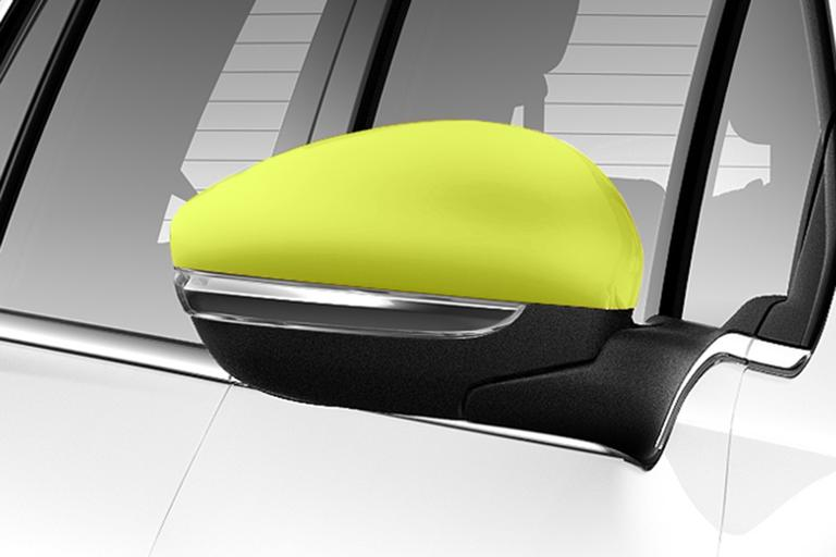 NEW! PEUGEOT 2008 DOOR MIRROR COVERS CAPS - DOWNTOWN CITRUS COLOUR