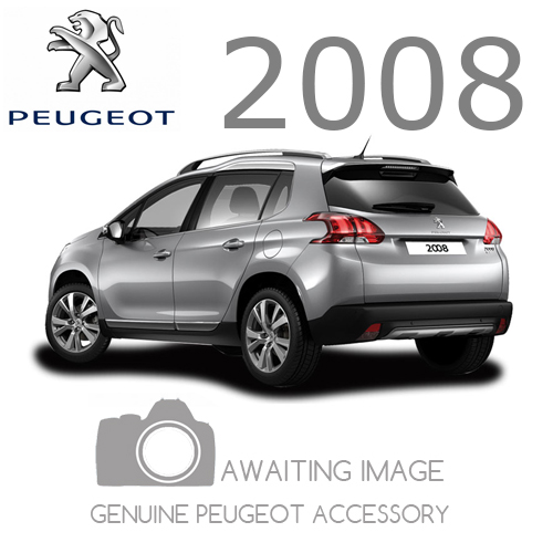 NEW! PEUGEOT 2008 PVC DOOR SILL PROTECTORS - ALUMINIUM EFFECT - GENUINE PARTS!