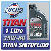 Fuchs Titan Sintofluid 1 Litre 75W-80 Gear Oil Car Sinto Fluid For Gearbox