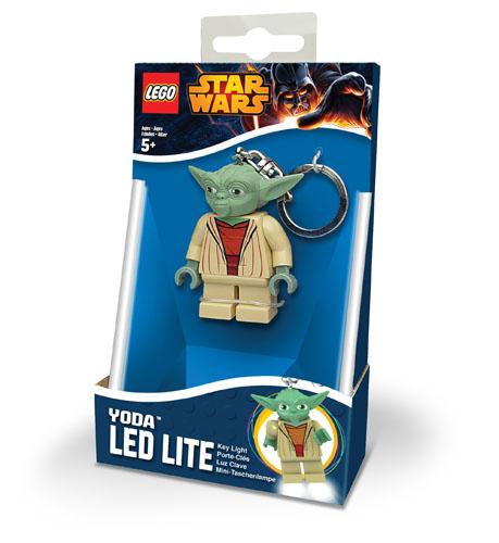New LEGO Star Wars YODA Minifigure Keyring Keychain LED Light Torch