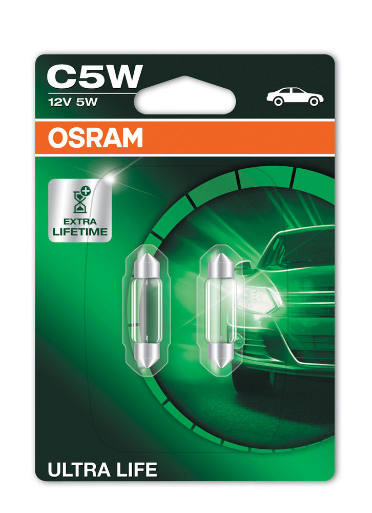 Osram C5W (239) 5W Ultra Life Festoon Interior Bulbs 3X Lifetime 6418ULT-02B