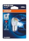 Osram Diadem Red PR21W (382) 21W Shiny Orange Indicator Bulbs (x2) 7507DC-02B