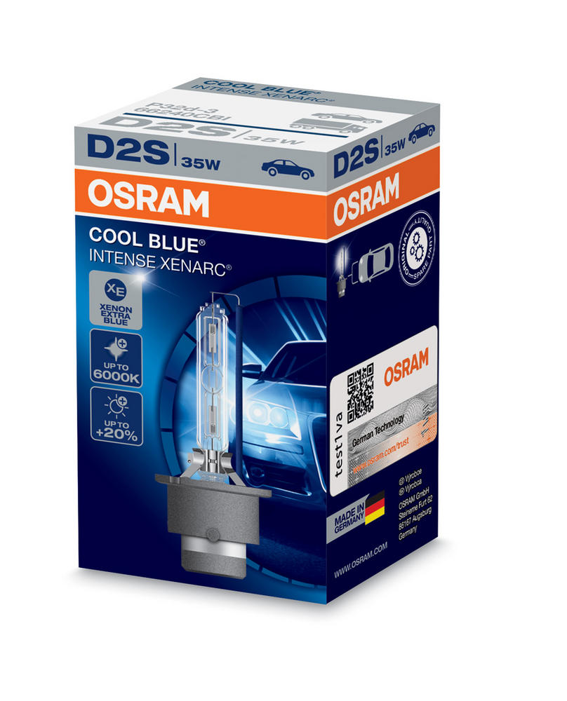 Osram D2S Cool Blue Intense XENARC Bulb (x1) 6000K HID Xenon Gas 35W 66240CBI