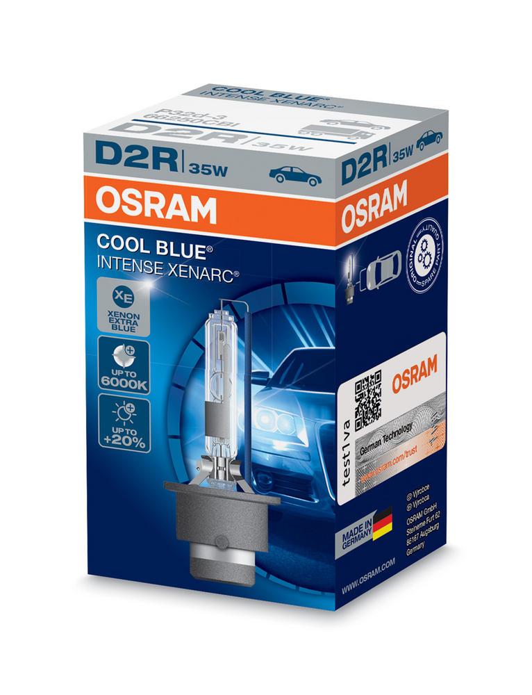 Osram D2R Cool Blue Intense XENARC Bulb (x1) 6000K HID Xenon Gas 35W 66250CBI