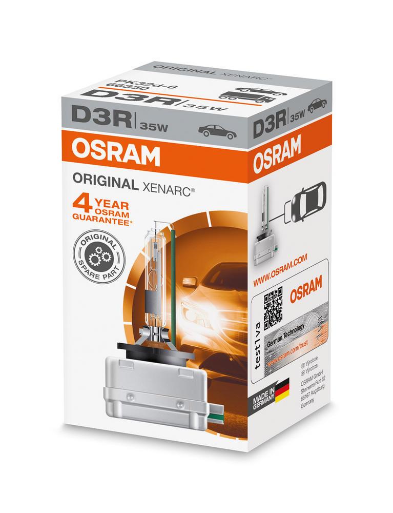 Osram D3R Original XENARC HID Xenon Gas Upgrade Bulb (x1) 35W 66350 PK32d-6