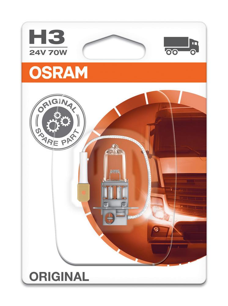 Osram H3 24v 70w Standard Replacement Original Headlight Bulb Foglight 64156-01B