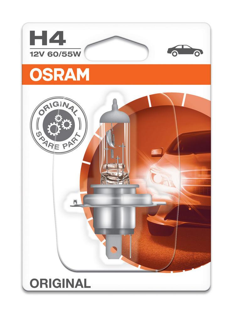 Osram H4 (472) Original Standard Bilux Headlight Bulb 12V 60/55W (x1) 64193-01B