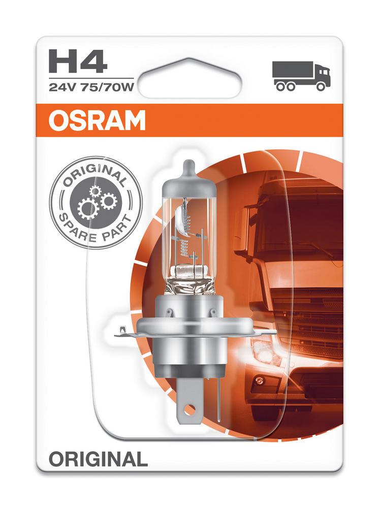Osram H4 24v 75/70w Truck Standard Replacement Original Headlight Bulb 64196-01B