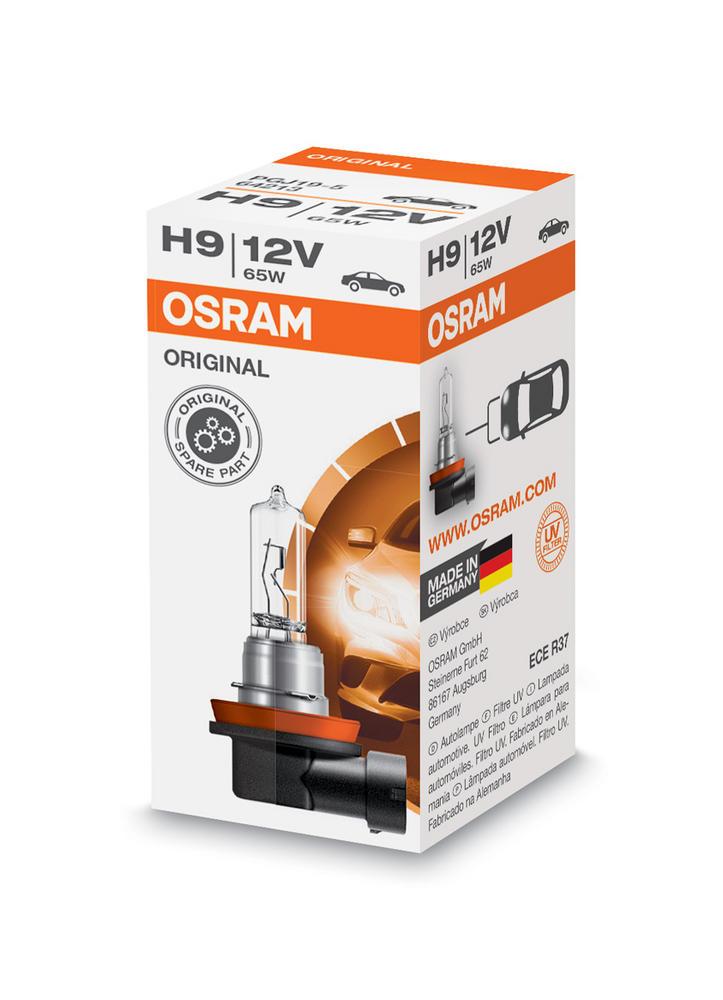 New! 64213 Osram H9 12V 65W Headlight Bulb (x1) Original Standard ECE R37