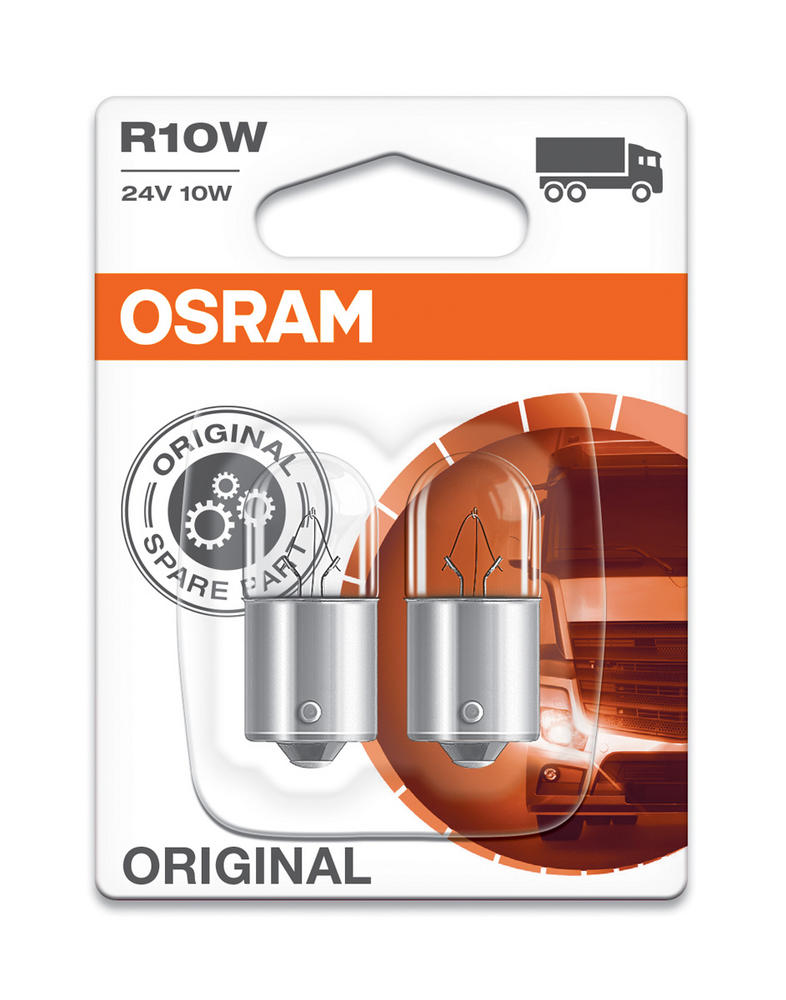 Osram R10W 24v 10W (246) Original Commercial Vehicle Bulbs BA15s (x2) 5637-02B