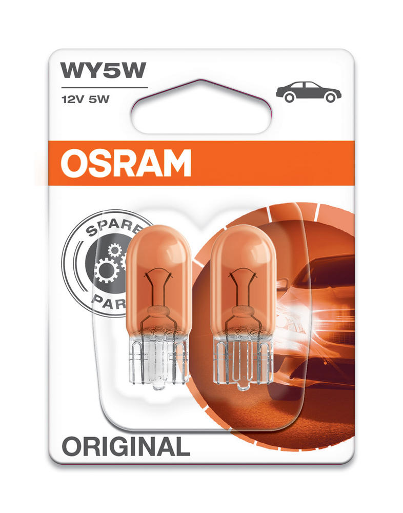 Osram WY5W (501A) 5W Original Standard Indicator Amber Bulbs 2827-02B Twin Pack