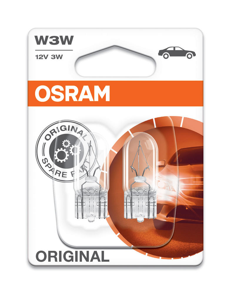Osram W3W (504) Original Standard Replacement Bulbs W2.1x9.5d 2821-02B Twin Pack