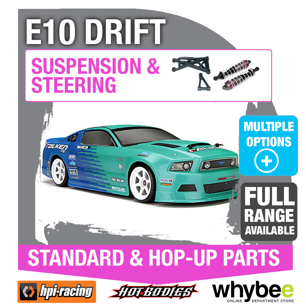 Genuine HPi Racing R//C Standard /& Hop-Up Parts! HPI E10 Body Shells