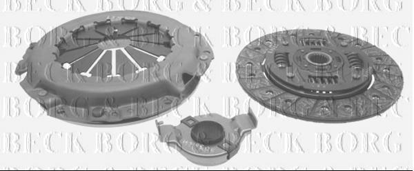 Borg /& Beck HK9363 Clutch Kit 3-in-1