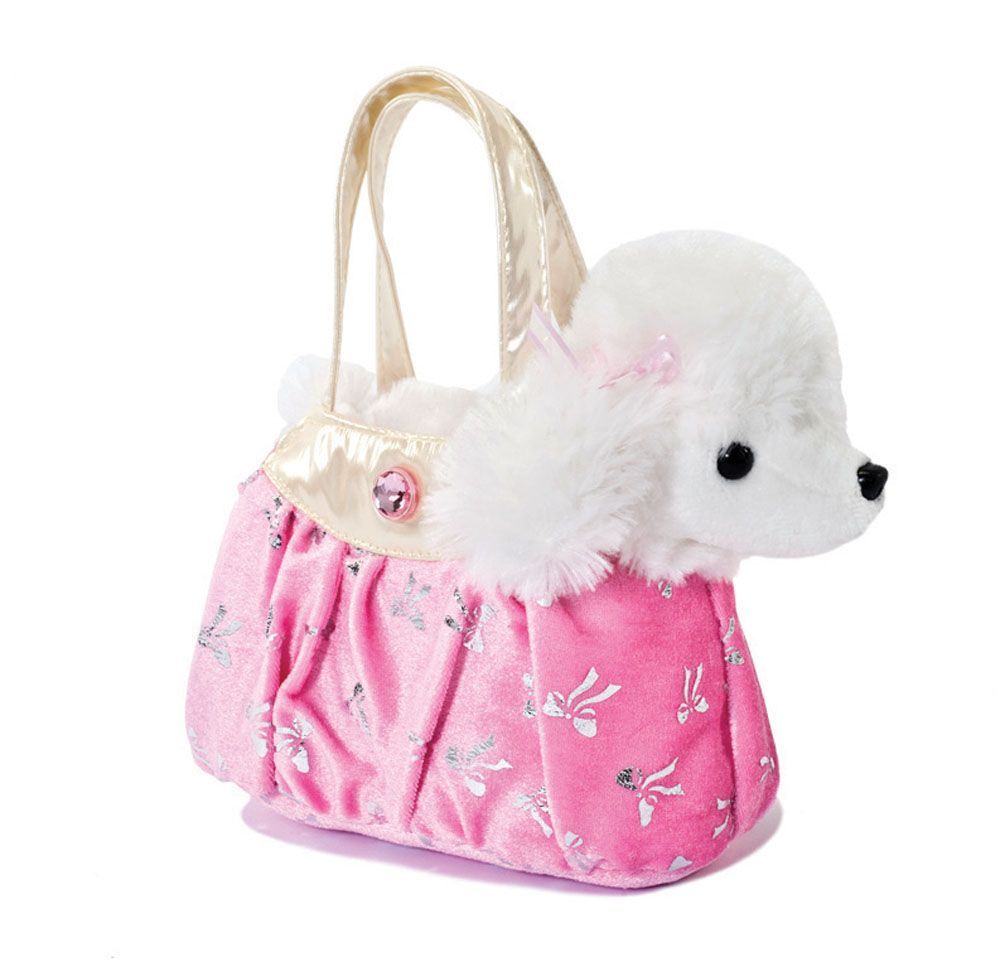 Aurora-Fancy-Pals-PLUSH-Cuddly-Soft-Toy-Teddy-Gift-Dog-in-Bag-New-Baby-Brand-New