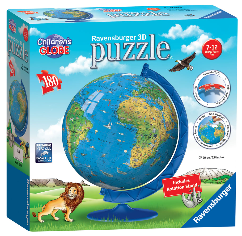 New 12338 ravensburger childrens world map 3d puzzle 180pc jigsaw 12338 ravensburger childrens world map 3d puzzle 180pc jigsaw kids age 7 gumiabroncs Image collections