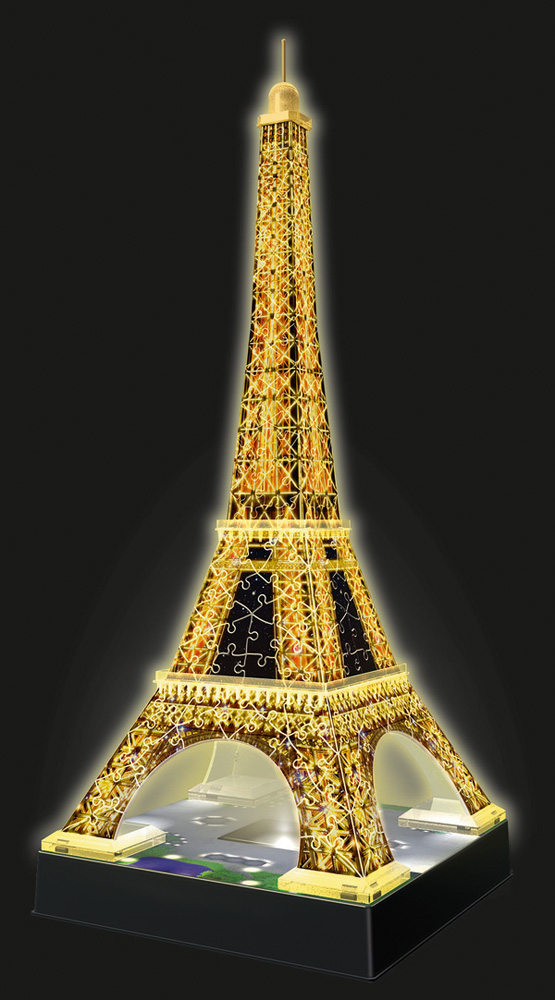 12579 Ravensburger Eiffel Tower 3d Puzzle With Lights