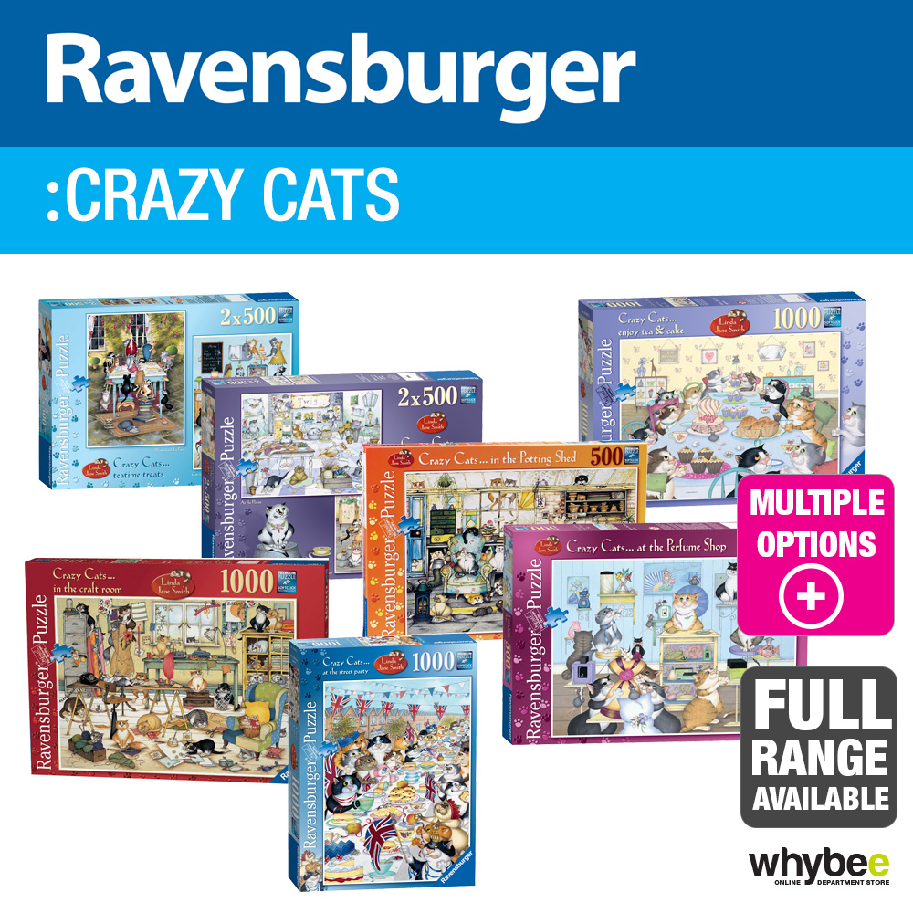 Details about Ravensburger Crazy Cats Adult Jigsaw Puzzles - 6 designs to  choose from!