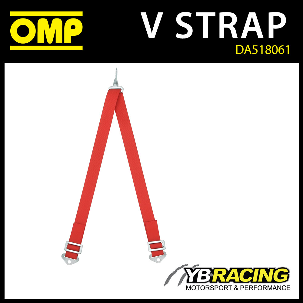 """DA518061 OMP RACING V-STRAP 2"""" IN RED TO CONVERT OMP 515 HST HARNESS TO 6-POINT"""